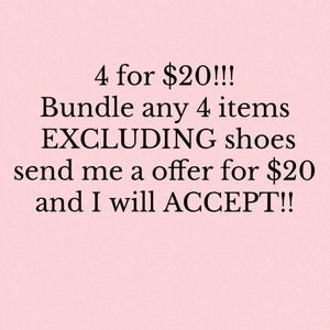 4 items with  for $20!!!!